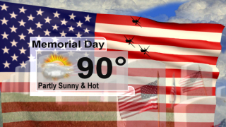 Still hot but a few more clouds for Memorial Day