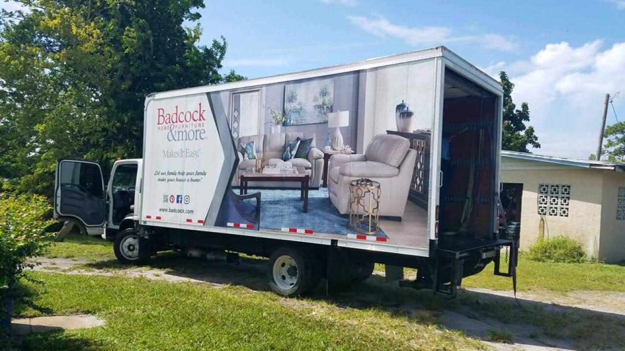 Badcock furniture truck