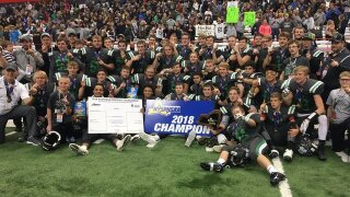 CSP beats Moriah 26-6 for program's first state football championship