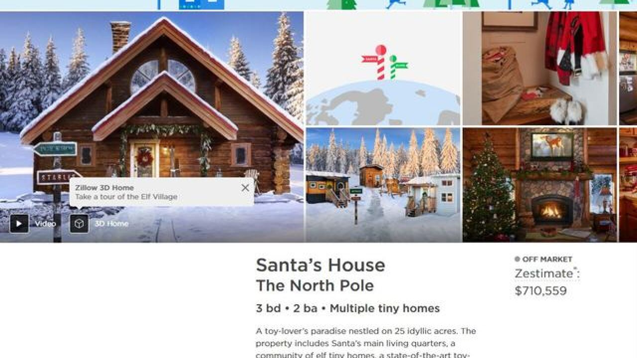 Take a sneak peak inside Santa's house