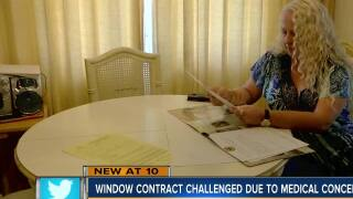 Woman challenges $42,000 window contract signed by her father, says he has brain cancer