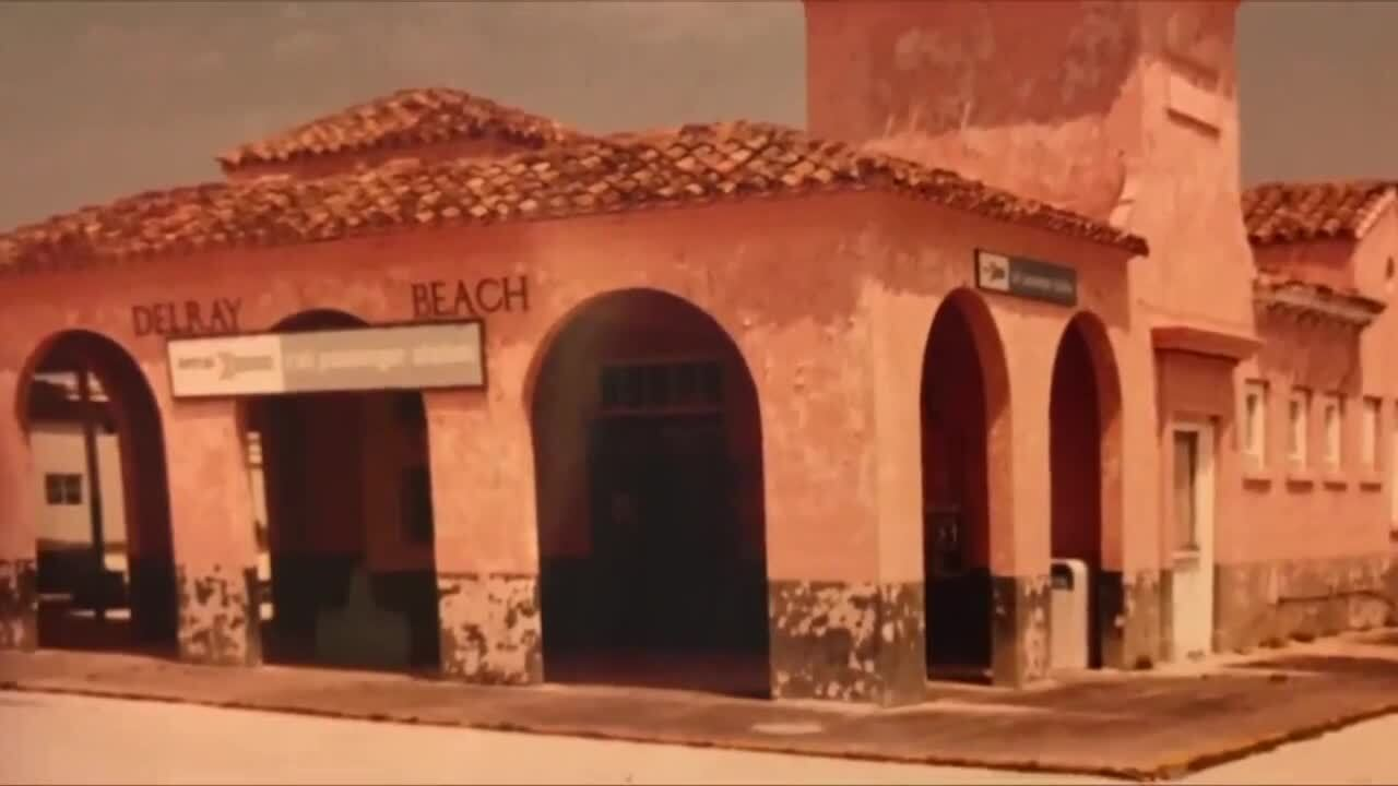 Picture of old Delray Beach train station courtesy of Delray Beach Historical Society
