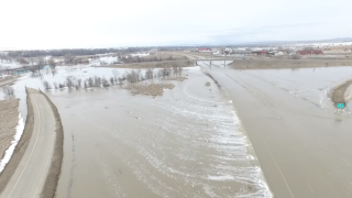 Video extra: Flooding of I-90 at Crow Agency