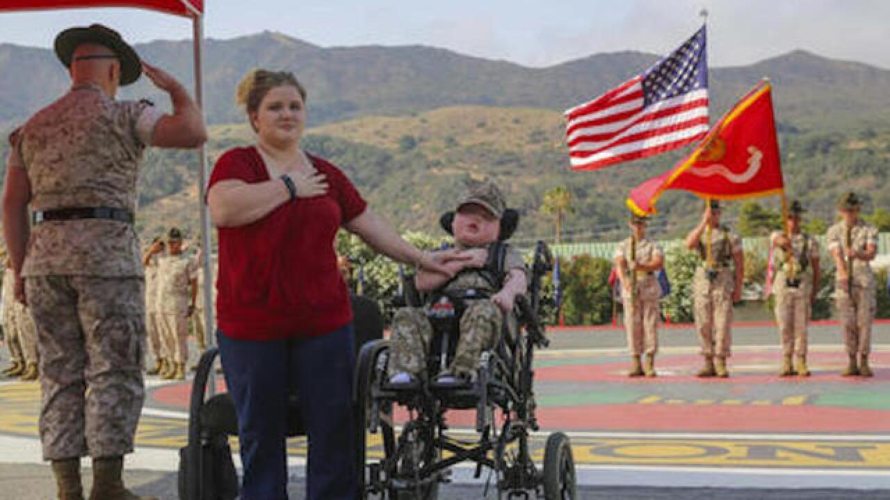 8-year-old boy dies after being named honorary Marine