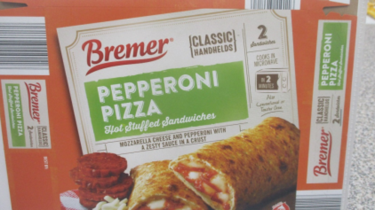 Recall: There may be plastic in your stuffed pepperoni pizza sandwiches