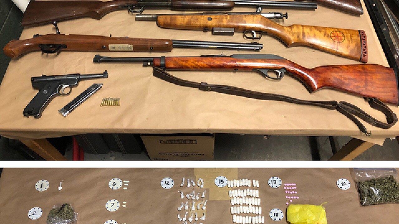 Guns and drugs seized in Baltimore man's arrest