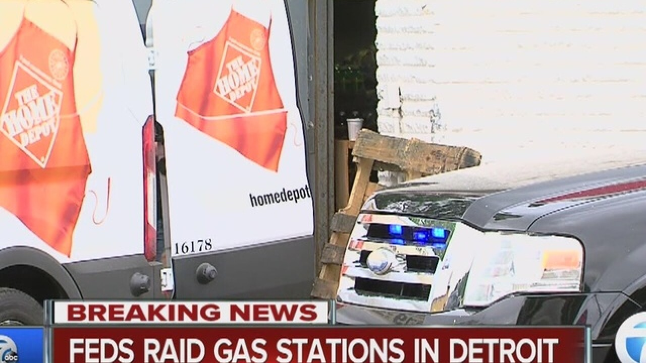Raids underway at metro Detroit gas stations