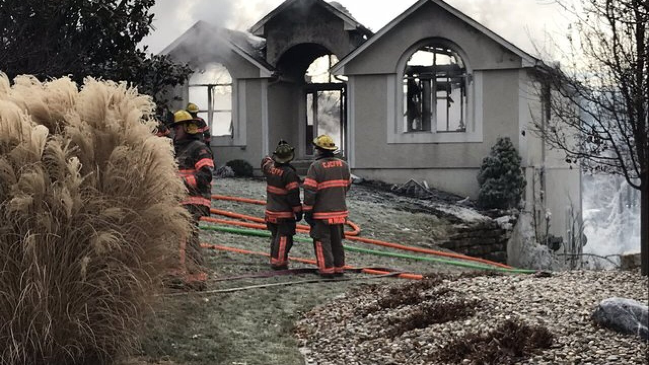 Blue Springs home a total loss after fire