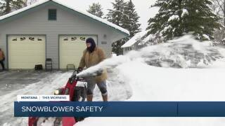 Experts urge caution when using snow-blowers