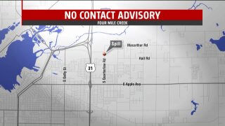 Officals issue no body contact advisory for Four Mile Creek in Muskegon Co.