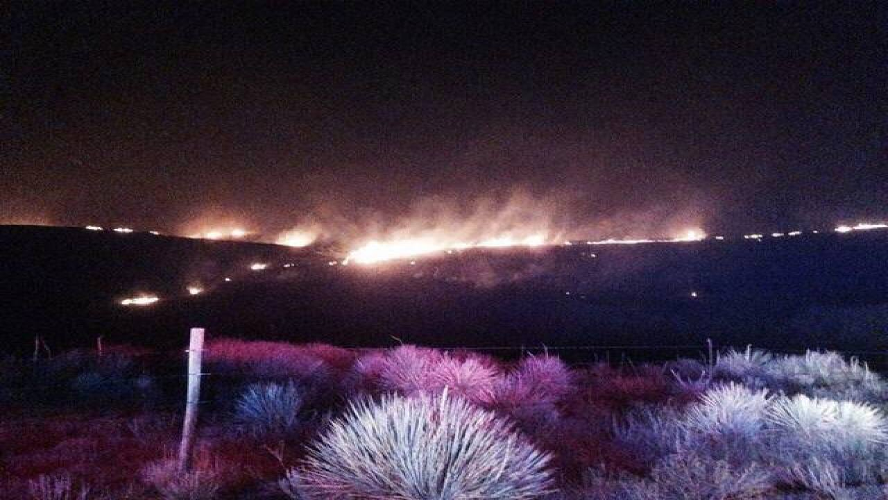 Large Brush fire burning near Agate