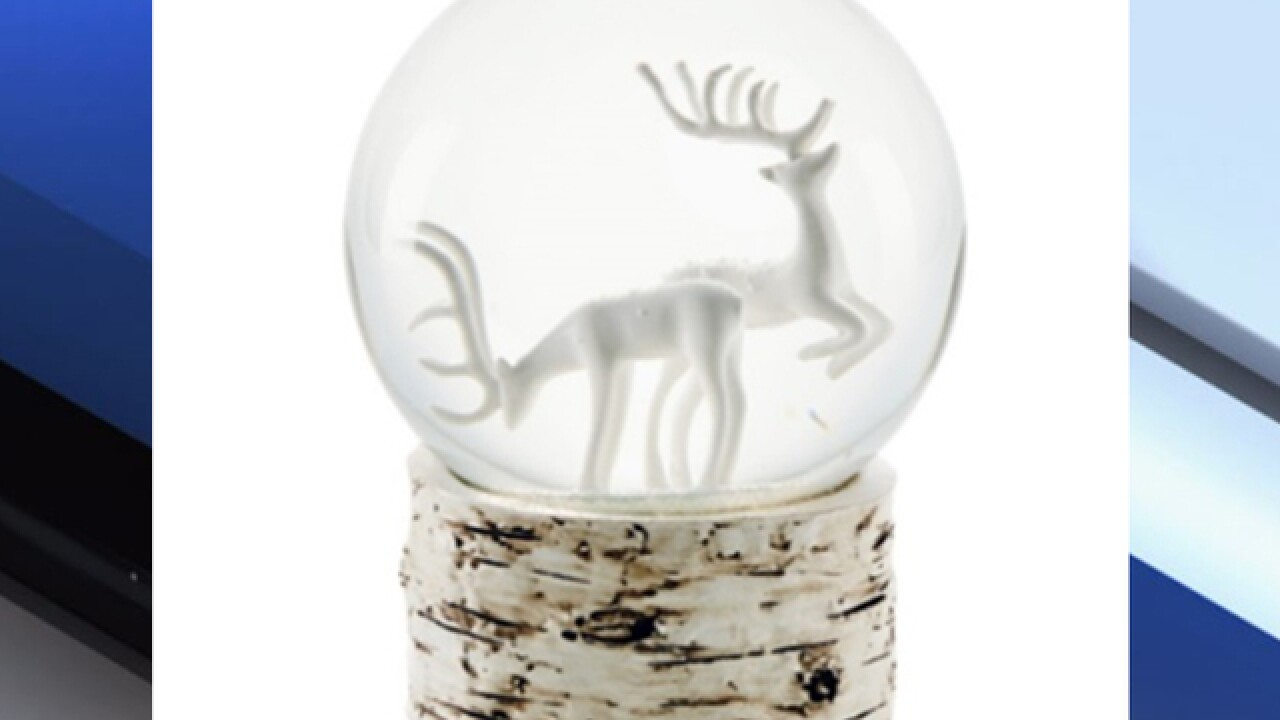 Snow globes recalled due to fire hazard