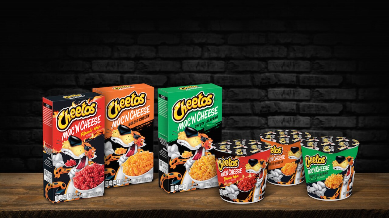 Cheetos-flavored mac 'n cheese launching August 8
