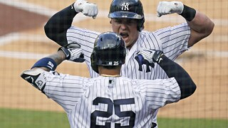 APTOPIX ALDS Rays Yankees Baseball