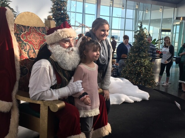 PHOTOS: Santa arrives at the Indy airport