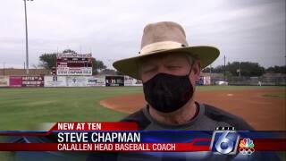 Calallen baseball coach Steve Chapman
