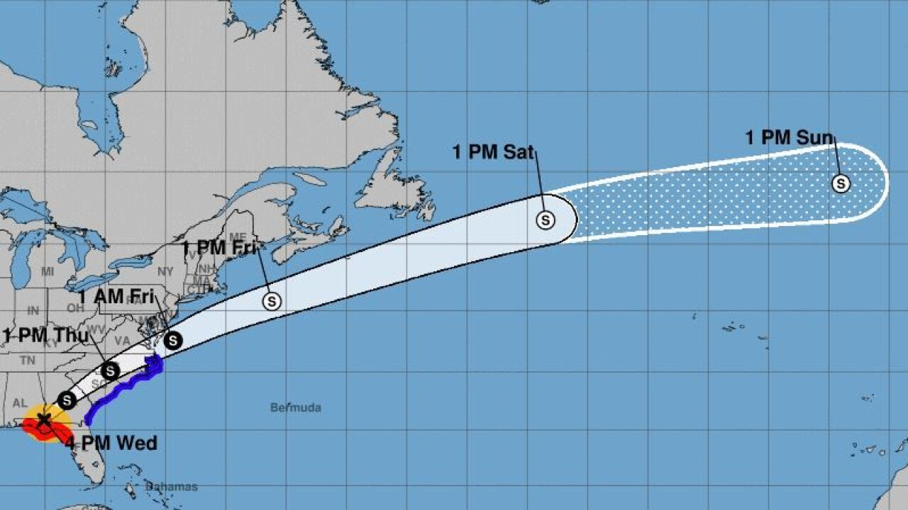 Hurricane Michael weakens to Category 3, continues pounding Florida Panhandle.JPG