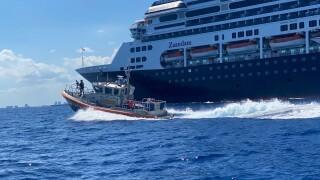 Coast Guard Station Ft. Lauderdale escorts cruise ship
