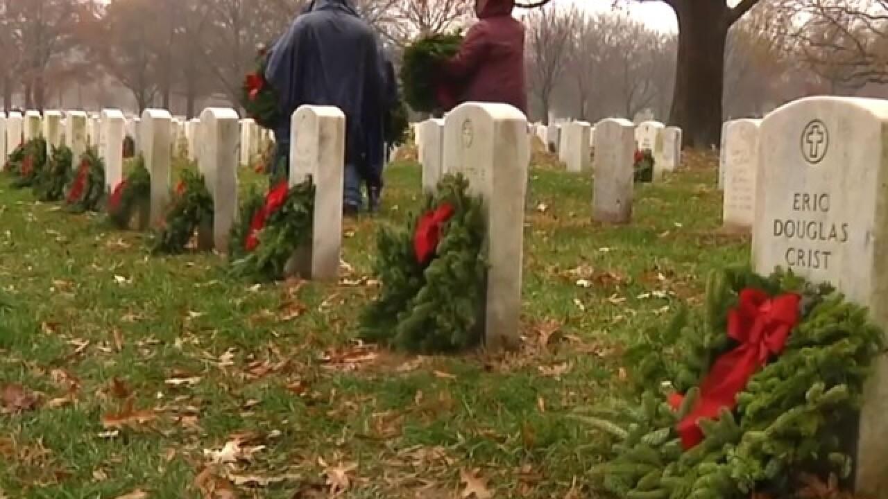Thousands of wreaths honor fallen heroes