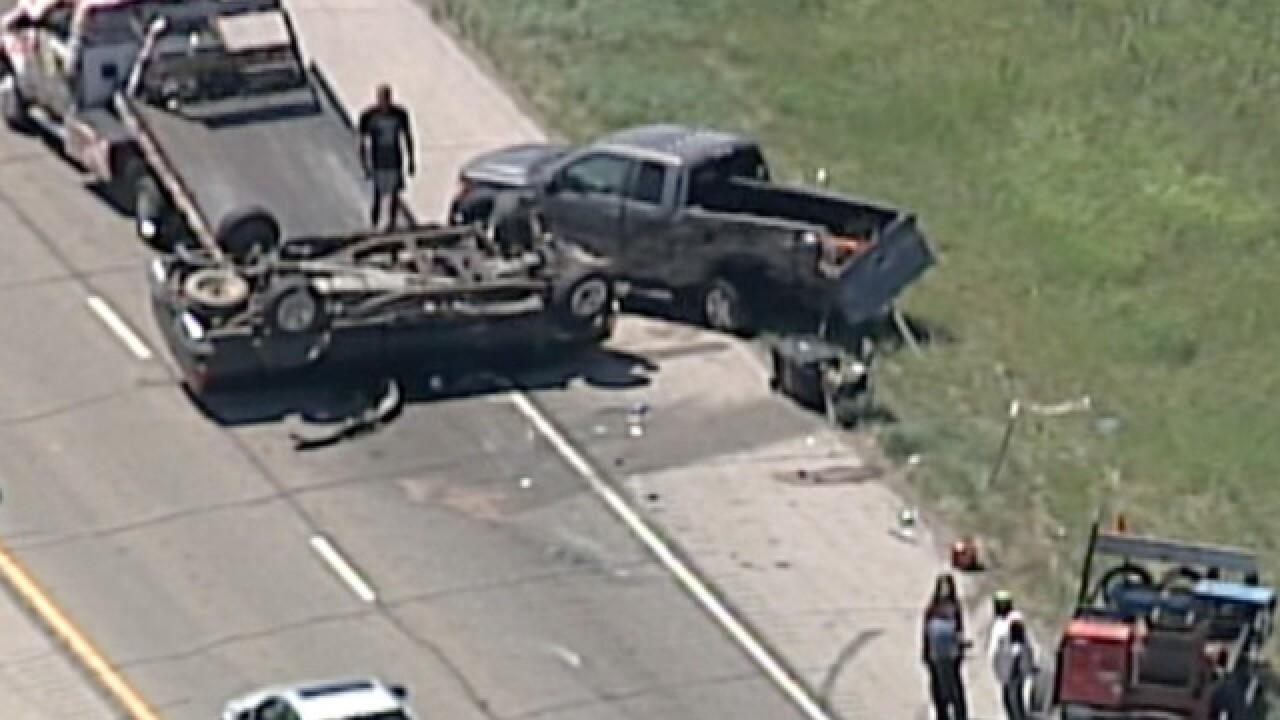 Kansas governor helps after bad wreck on K10