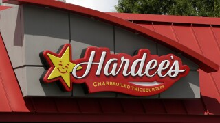 Hardee's sign in July 2020