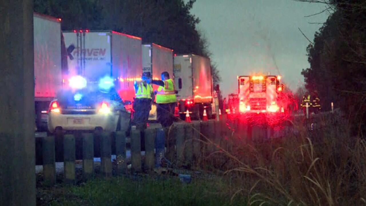 Pickup Truck Hauling Paint Thinner Crashes On I-40 Near Dickson