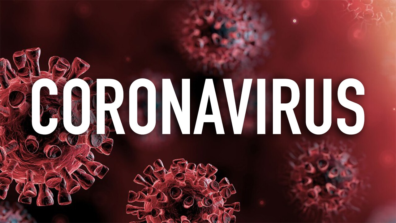 Coronavirus text over background