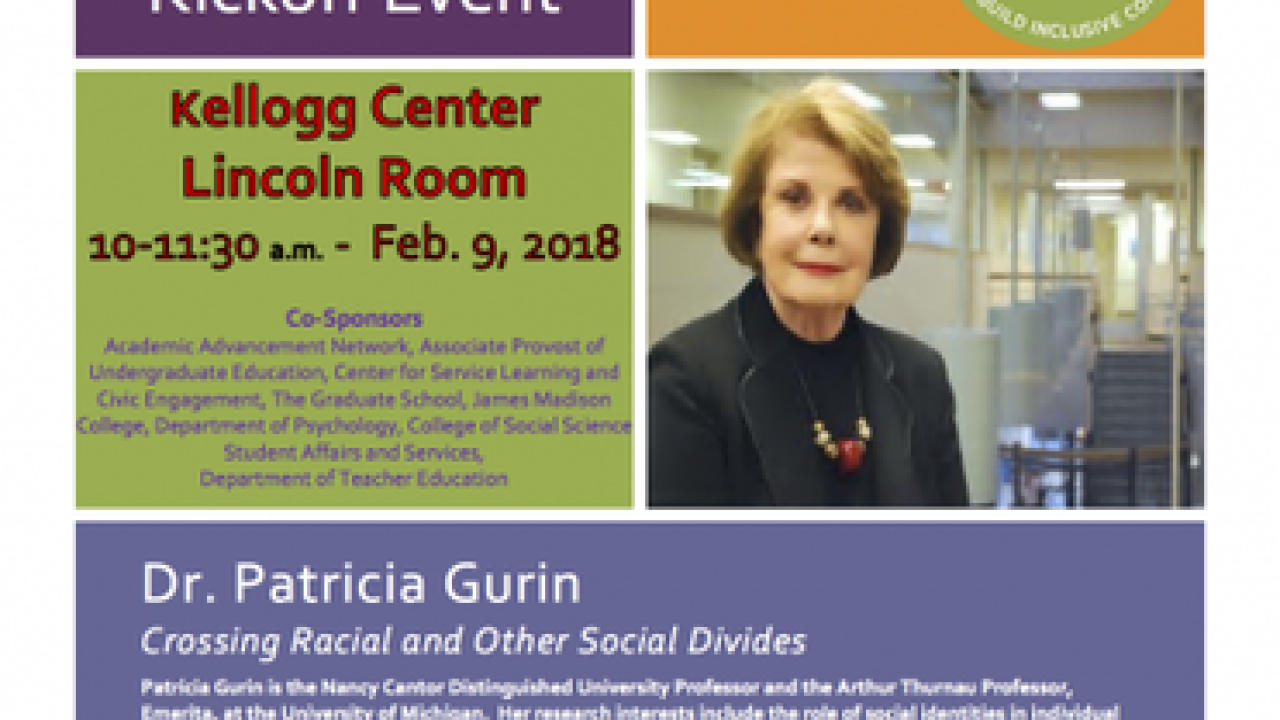 Patricia Gurin to speak at 'MSU Dialogues' kickoff event