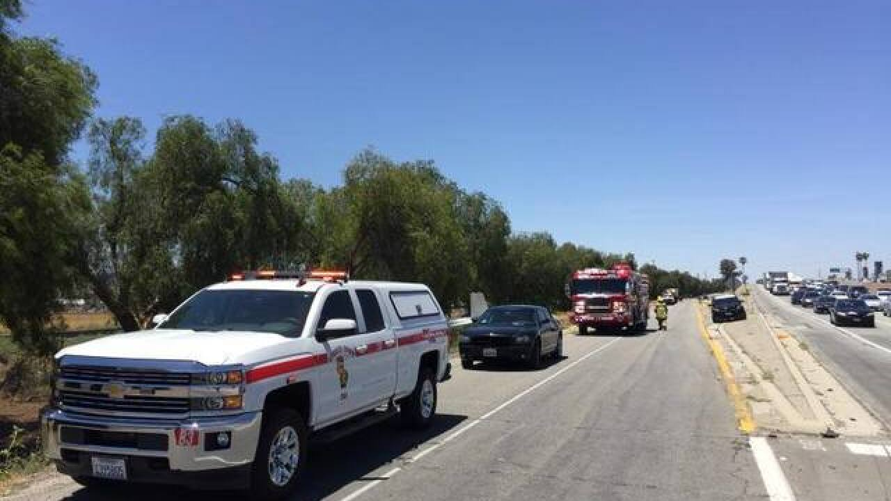 Planes crashes near I-10 in Riverside County
