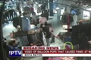 Video: Boca mall chaos caused by two popped balloons