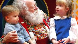 Pastor tells children lined up to see Santa that Santa isn't real