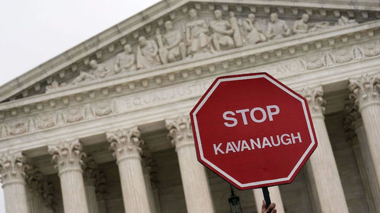 Anti-Kavanaugh protesters dragged from Senate gallery during vote