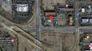 A Thursday morning wreck shut down eastbound Irvington Road at Palo Verde Road.