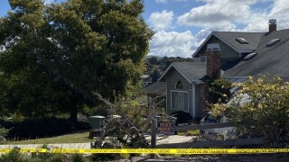 Police searched the backyard, looking for the remains Kristin Smart.