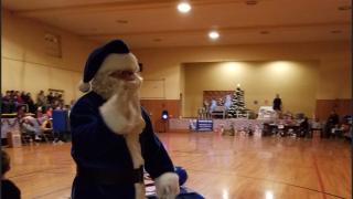 R. Buddy Blue Rosebud Blue Santa
