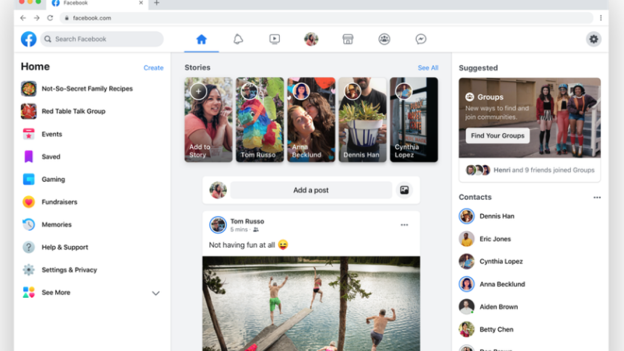 Facebook unveils new design, changes to app and website