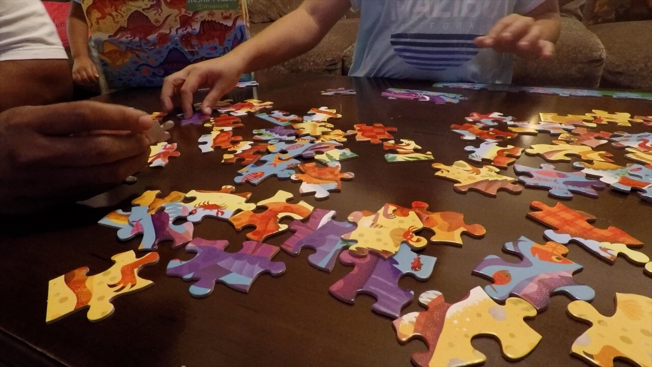 Puzzles helping children, adults relieve stress during COVID-19