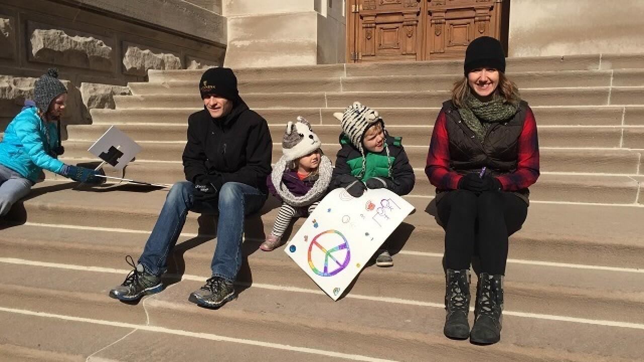 PHOTOS: Kids' peace rally