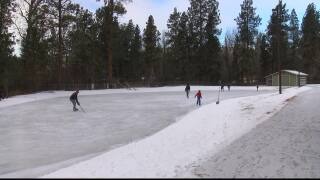Outdoor Missoula ice rink opens for skaters