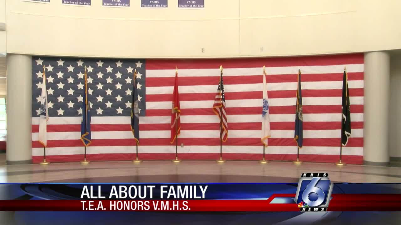 Veterans Memorial High School receives honor from TEA for helping military families