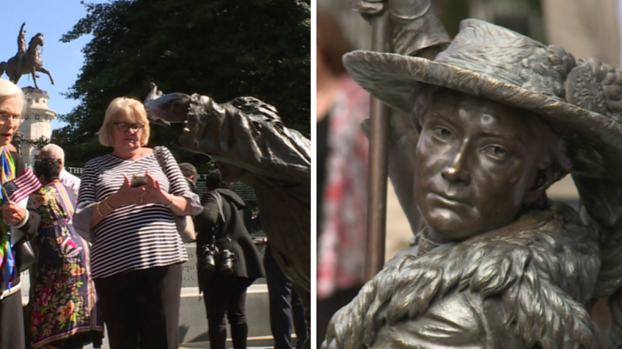 Virginia Women's Monument unveiled after almost decade of work