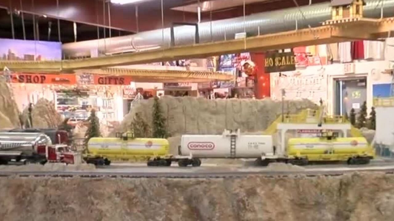 Usually along with the sound of trains you would hear the ohs and ahs of families inside the Gadsen-Pacific Division Toy Train Operating Museum.