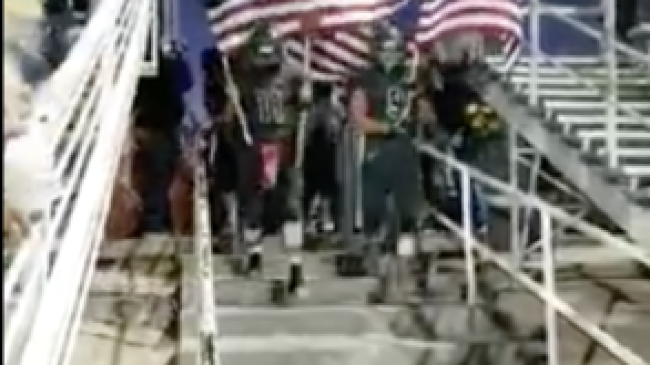 Ridgecrest High School Football Team Goes Viral For Pregame Display