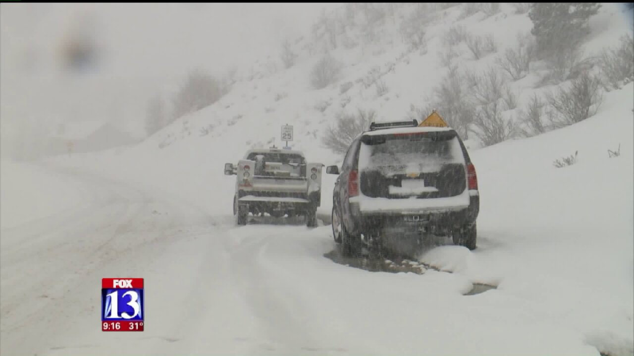 Drivers left stranded amid snow after fiery crash causes detour in SummitCounty