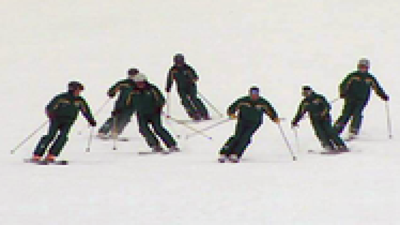 Deer Valley ski instructors showcase their synchronized skills