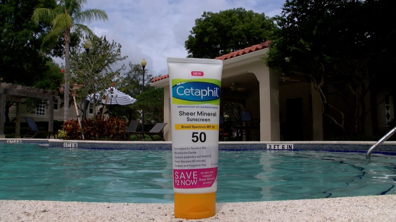 Cetaphil mineral sunscreen poolside recommended instead of chemical-based sunscreen
