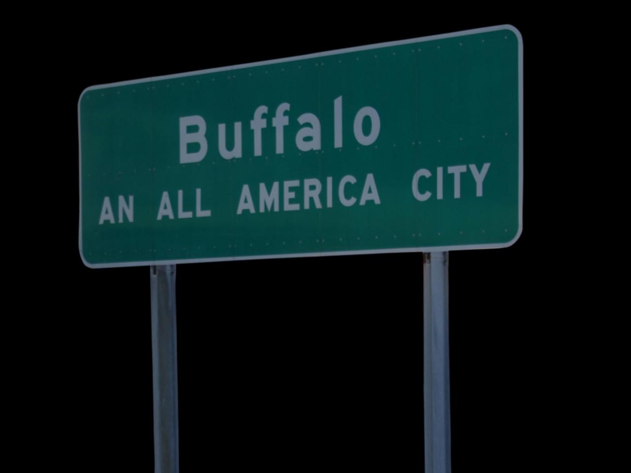 Buffalo's An All America City sign