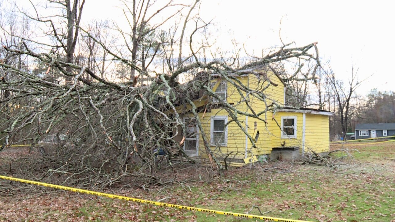 Tree crushes Hanover home with grandparents, mom and baby inside: 'I believe inmiracles'