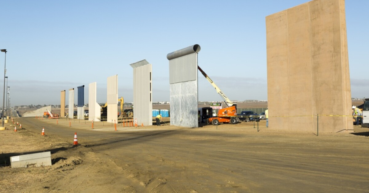Border wall prototypes in South San Diego County to be dismantled