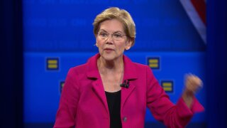 Warren jokes men who think marriage is between one man and one woman should 'just marry one woman'